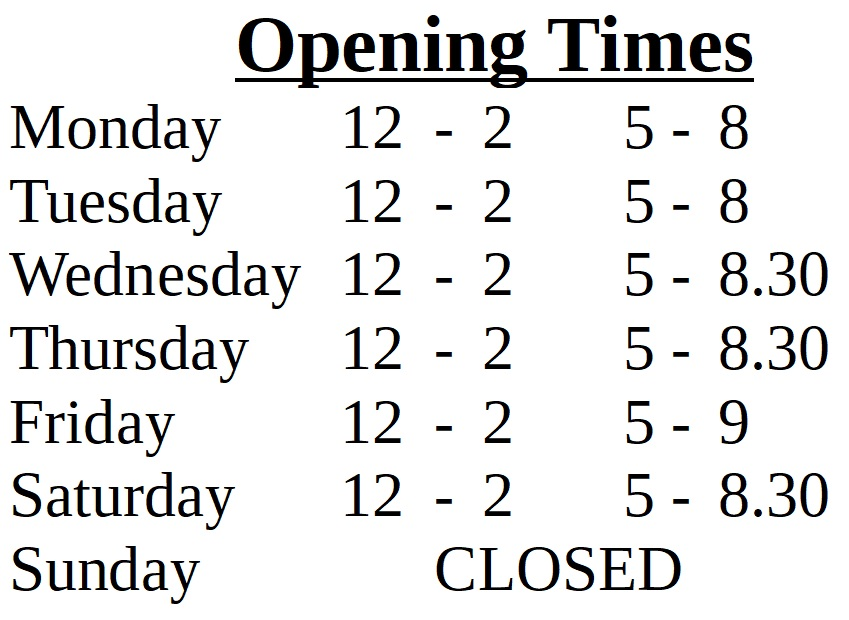 web openeing times